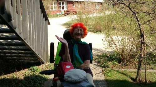 En glad kunde - Jytte Abildstrøm bruger Elscooterservice